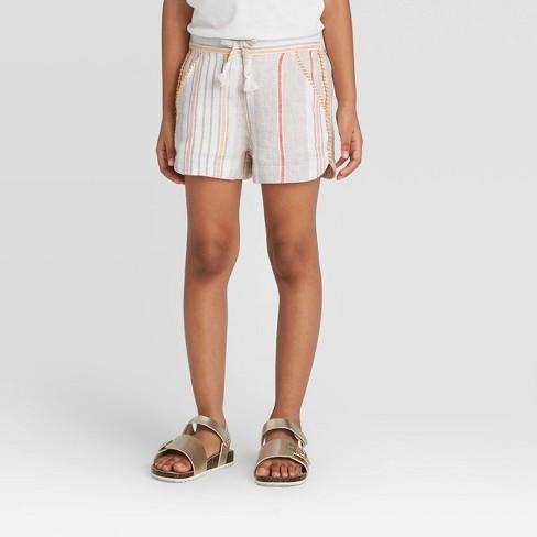 Toddler Girls' Striped Woven Fashion Shorts - art class™ - image 1 of 3