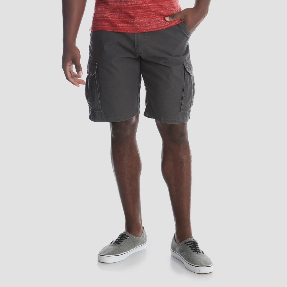 Wrangler Men's 10 Ripstop Cargo Shorts - Anthracite (Grey) 36