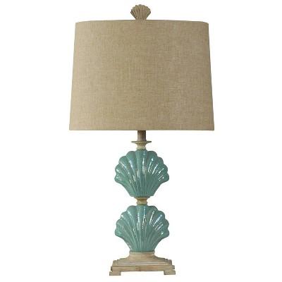 Gili Beach Ceramic Table Lamp Light Blue - StyleCraft