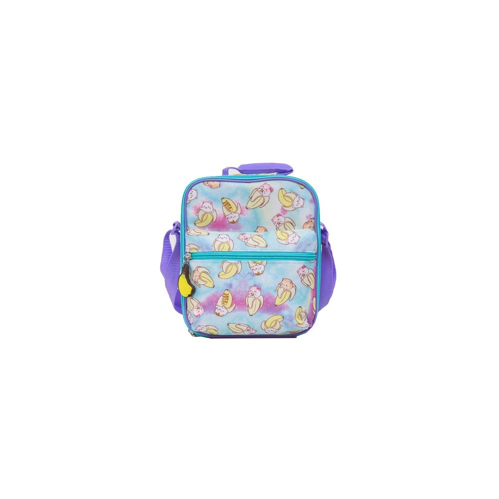 Image of Bananya Lunch Box - Blue/Purple, Multi-Colored