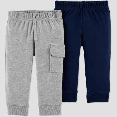 Baby Boys' 2pk Pants - Just One You® made by carter's Navy/Gray 18M