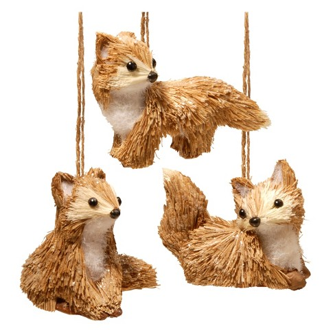 "Foxes 3-Pc Set Brown 3"" - National Tree Company® - image 1 of 1"