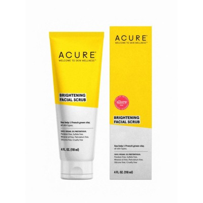 Facial Cleanser: Acure Brightening Facial Scrub