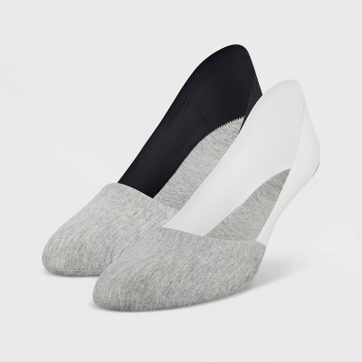 Peds Women's Cotton Unseen 2pk Liner Casual Socks - Gray 5-10