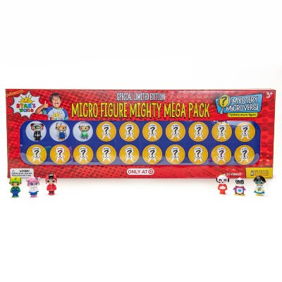 Ryan's World Micro Figure Mighty Mega Pack - 20pc