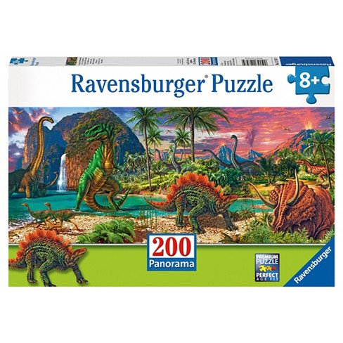 In the Land of the Dinosaurs 200pc Panorama Puzzle - image 1 of 2