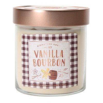 15.2oz Large Lidded Jar 2-Wick Candle Vanilla Bourbon - Signature Soy