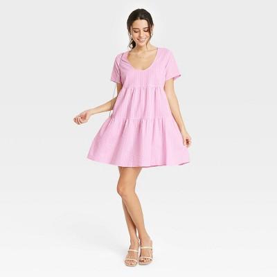 Women's Short Sleeve Tiered Dress - A New Day™