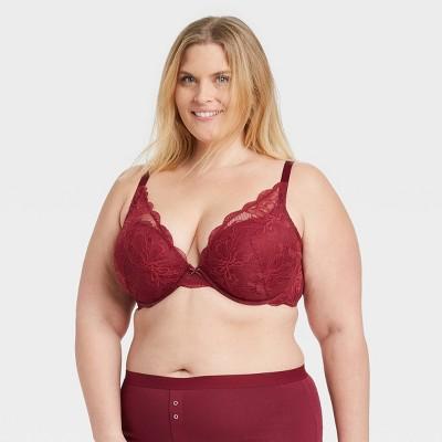 Women's Plus Size Sublime Lace Plunge Push-Up Bra - Auden™