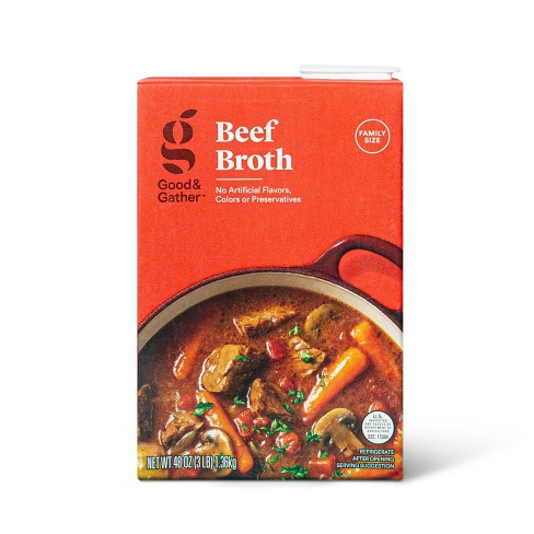 Beef Broth - 48oz - Good & Gather™ - image 1 of 3