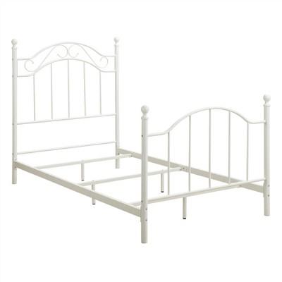 Twin Rozella Metal Bed White - Dorel Living