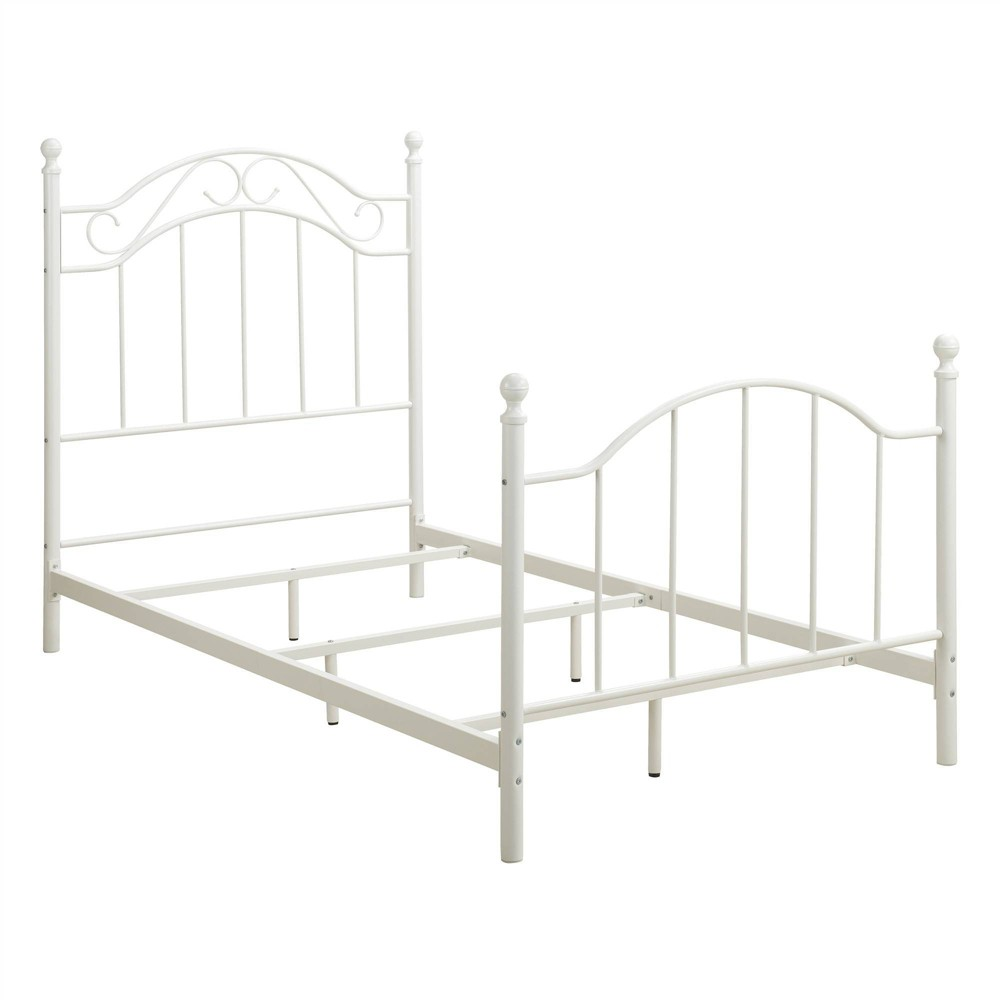 Twin Rozella Metal Bed White - Dorel Living