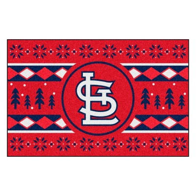 """MLB St. Louis Cardinals 19""""x30"""" Holiday Sweater Rug"""
