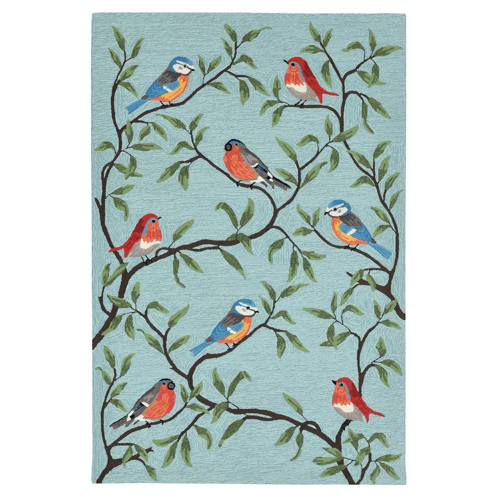 Blue Bird Tufted Accent Rug 3'6