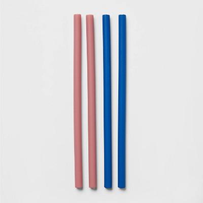 4pk Silicone Straws - Room Essentials™