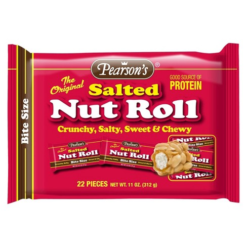 pearson s candy salted nut roll bite size candy bars 22ct target
