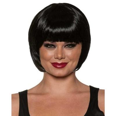 Underwraps Bob Cut One Size Adult Costume Wig | Black