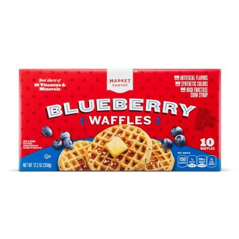 Blueberry Frozen Waffles - 12.3oz/10ct - Market Pantry™ - image 1 of 1