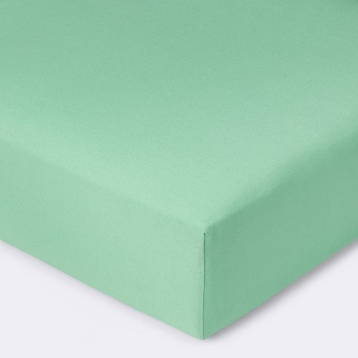 Crib Fitted Sheet Solid - Cloud Island™ Fieldhouse Green