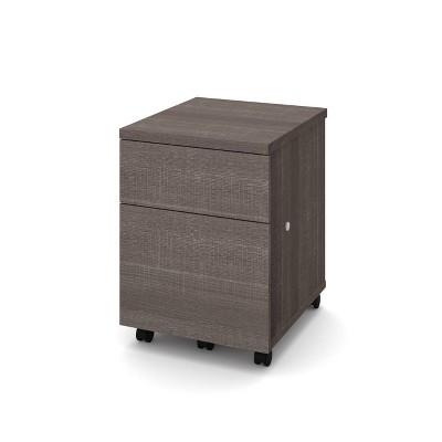 1U1F Mobile File Cabinet Bark Gray - Bestar