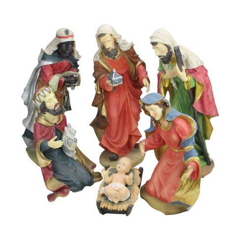 """Northlight 6-Piece Large Scale Holy Family and Three Kings Religious Christmas Nativity Statues 19"""" - image 1 of 2"""