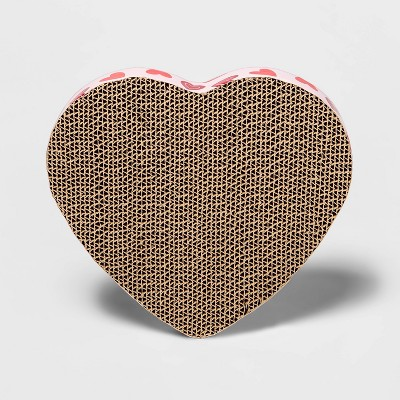 Valentine's Day Heart Cat Scratcher - Pink - Boots & Barkley™