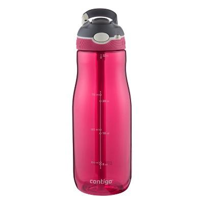 Contigo AUTOSPOUT 32oz Straw Ashland Water Bottle Sangria Red
