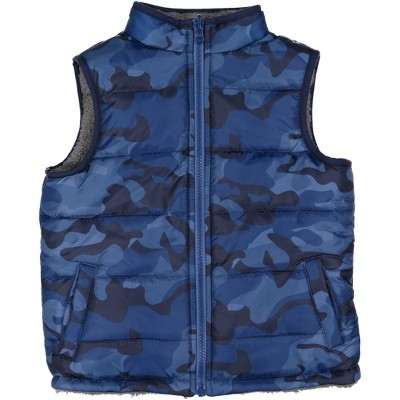 Andy & Evan  Toddler  Reversible Fleece Puffer Vest