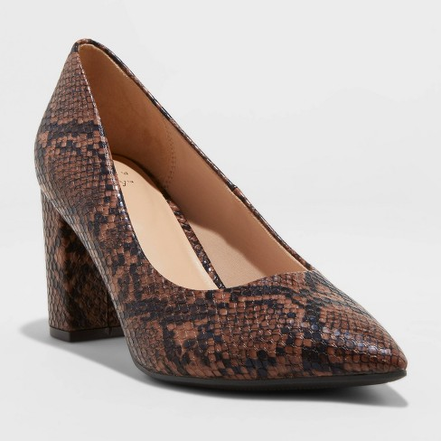 Women's Bonny Block Heeled Pumps - A New Day™ - image 1 of 3