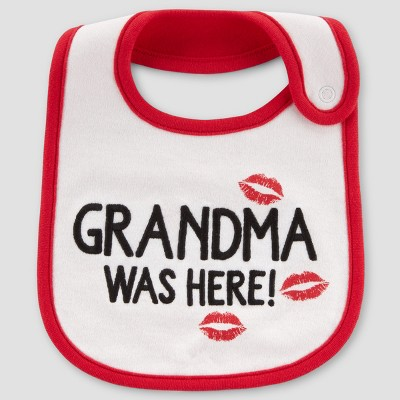 Baby Grandma Was Here Bib - Just One You® made by carter's White/Red One Size