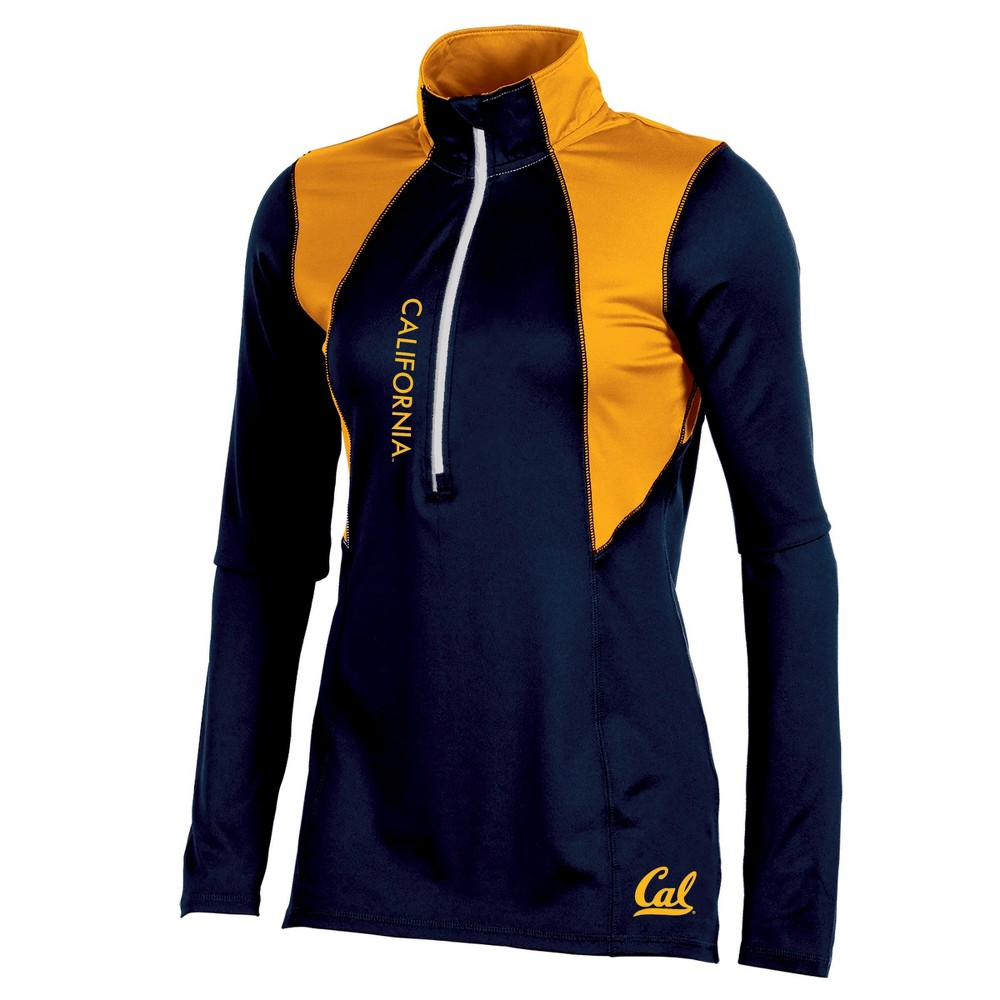 Cal Golden Bears Women's Long Sleeve 1/2 Zip Performance Sweatshirt - L, Multicolored
