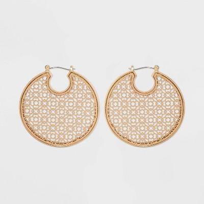 Filigree Hoop Earrings - A New Day™ Gold