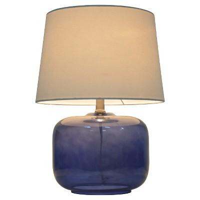 Glass Table Lamp Navy - Pillowfort™