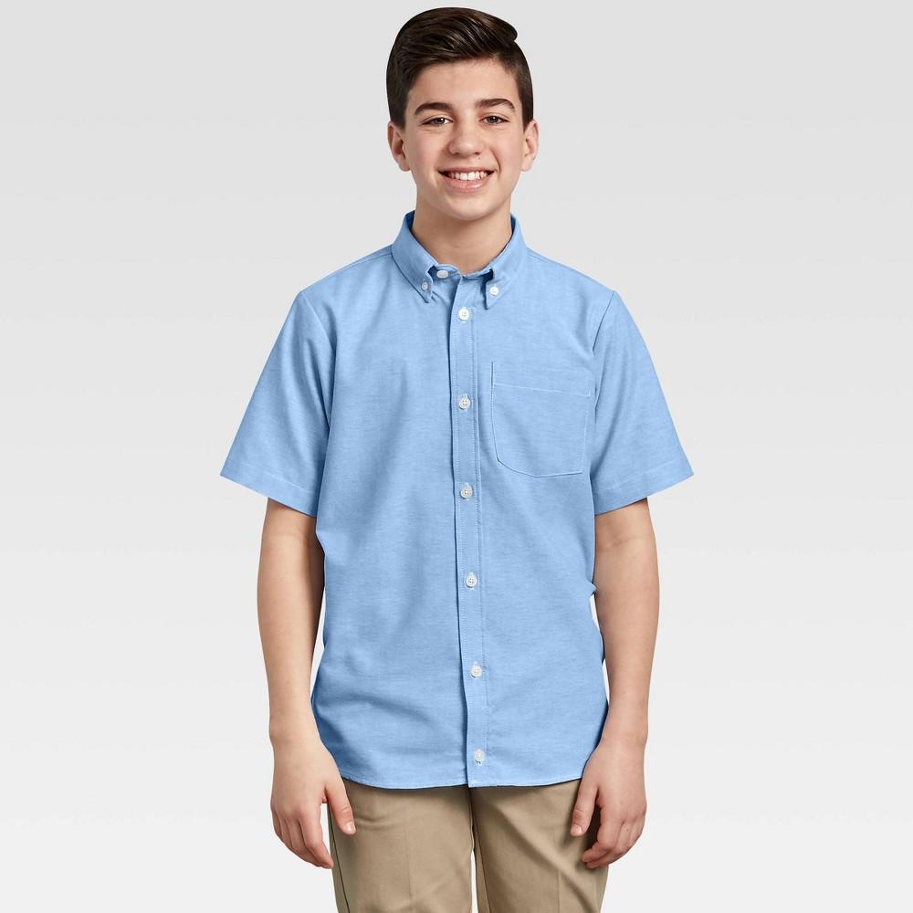 Dickie Boy hort leeve Oxford Uniform Button Down hirt