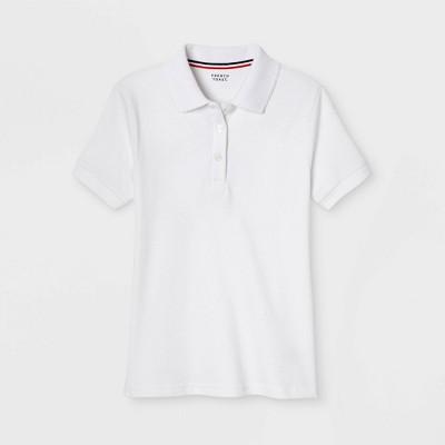 37082225 French Toast Girls' Short Sleeve Interlock Polo Shirt With Picot ...