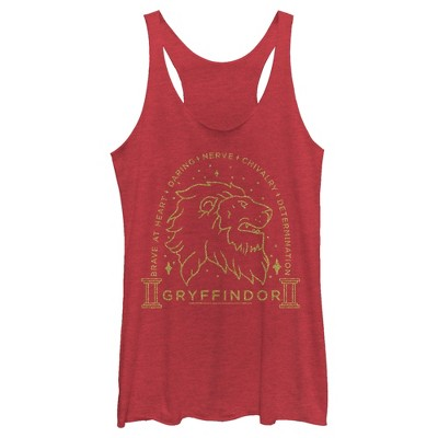 Women's Harry Potter Gryffindor House Emblem Racerback Tank Top