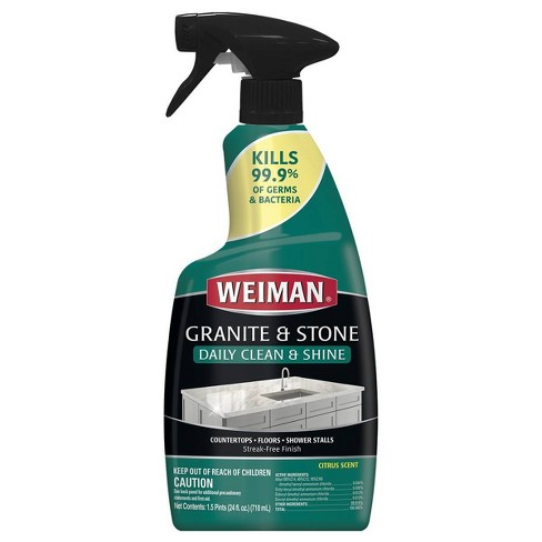 Weiman Granite & Stone Daily Clean & Shine With Disinfectant - 24oz - image 1 of 4