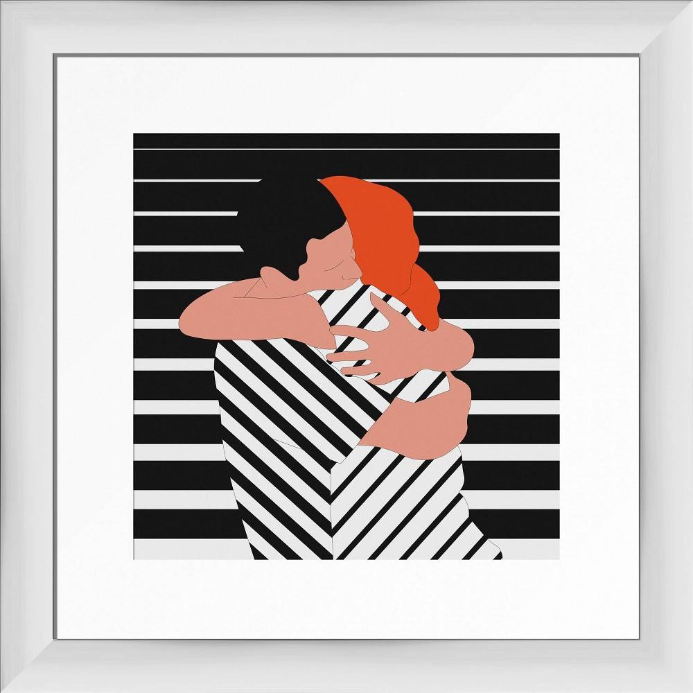 13 34 X 13 34 Modern Love Framed Wall Art White Ptm Images