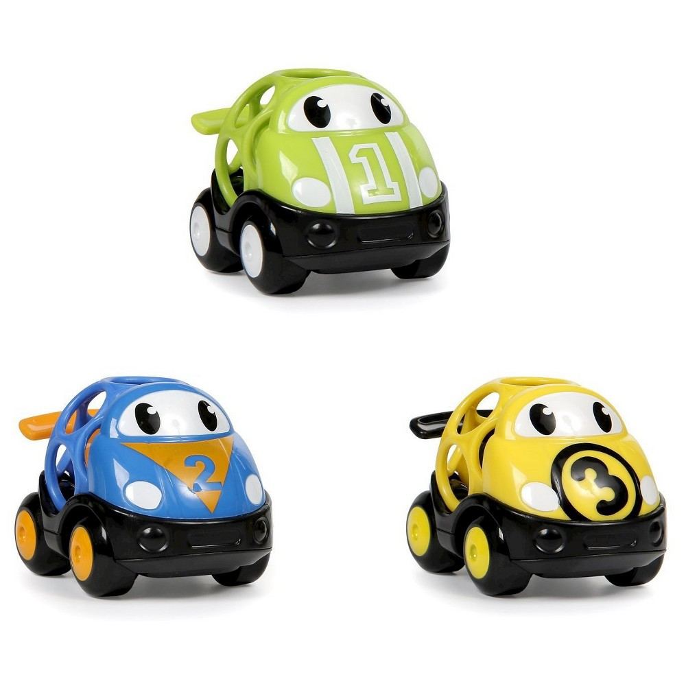 Oball Go Grippers Vehicles - Race Car (3 Pack)