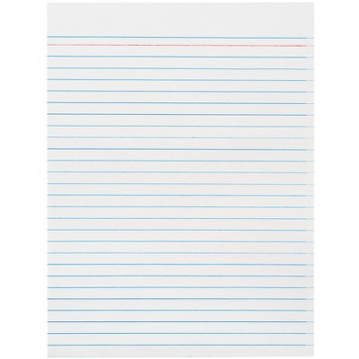 School Smart Theme Paper with Red Headline and No Margin, 8 x 10-1/2 Inches, 500 Sheets