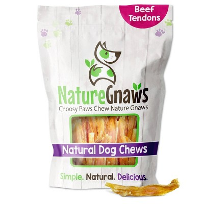 "Nature Gnaws Tendon Bites 2-4"" Beef Dog Treats - 24ct"