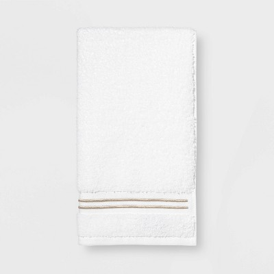 Spa Hand Towel Taupe Stripe - Threshold Signature™