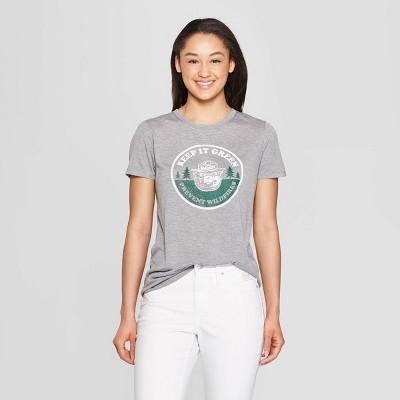 c29b72908d61f Women s Smokey the Bear Short Sleeve Keep It Green Graphic T-Shirt (Juniors