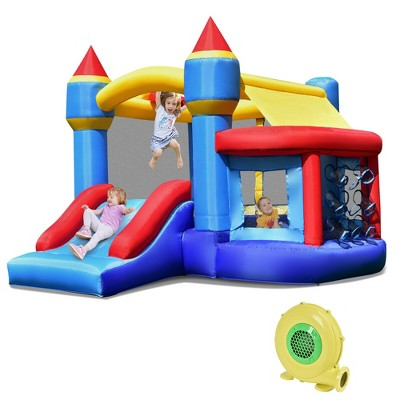 Costway Inflatable Bounce House Castle Slide Bouncer Shooting Net
