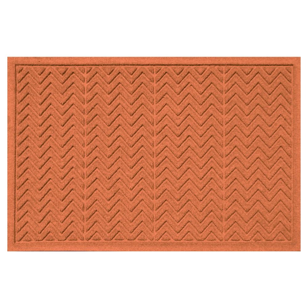 Orange Solid Doormat - (3'X5') - Bungalow Flooring