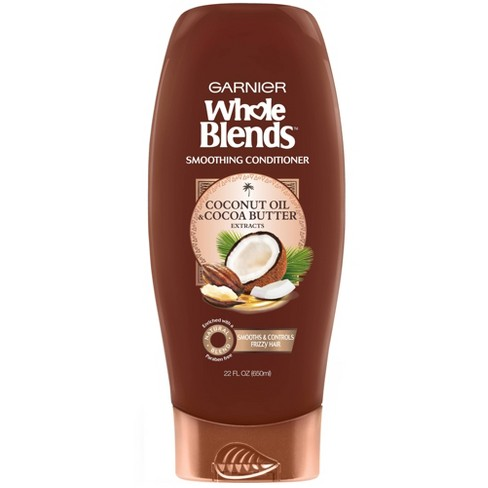Garnier Whole Blends Coconut Oil & Cocoa Butter Extracts Smoothing Conditioner - 22 fl oz - image 1 of 4