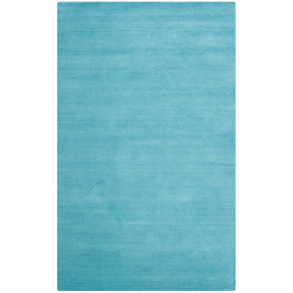 8'X10' Solid Tufted Area Rug Turquoise - Safavieh