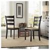 Set of 2 Kensington Ladder Back Chair Wood/Black - Inspire Q - image 2 of 3