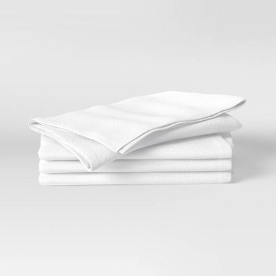 4pk Cotton Easy Care Napkins White - Threshold™