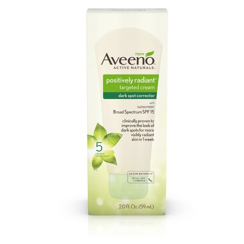 Aveeno Positively Radiant Dark Spot Corrector Cream with Total Soy Complex - 2.0 fl oz - image 1 of 8